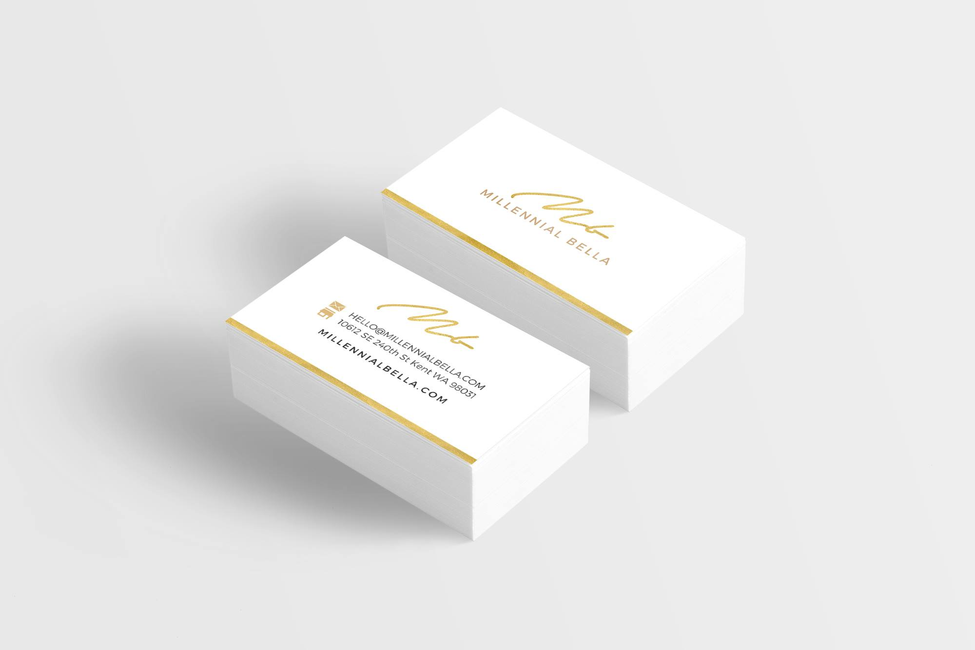 Millennial Bella Minimalist Business Card Design - Business Card Designer