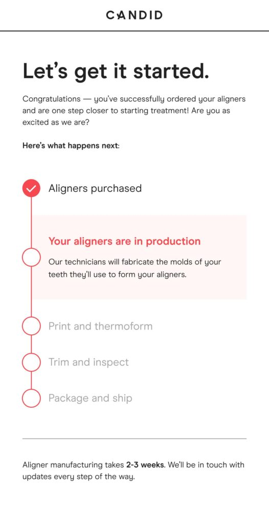 Candid Co - Aligners Are In Production